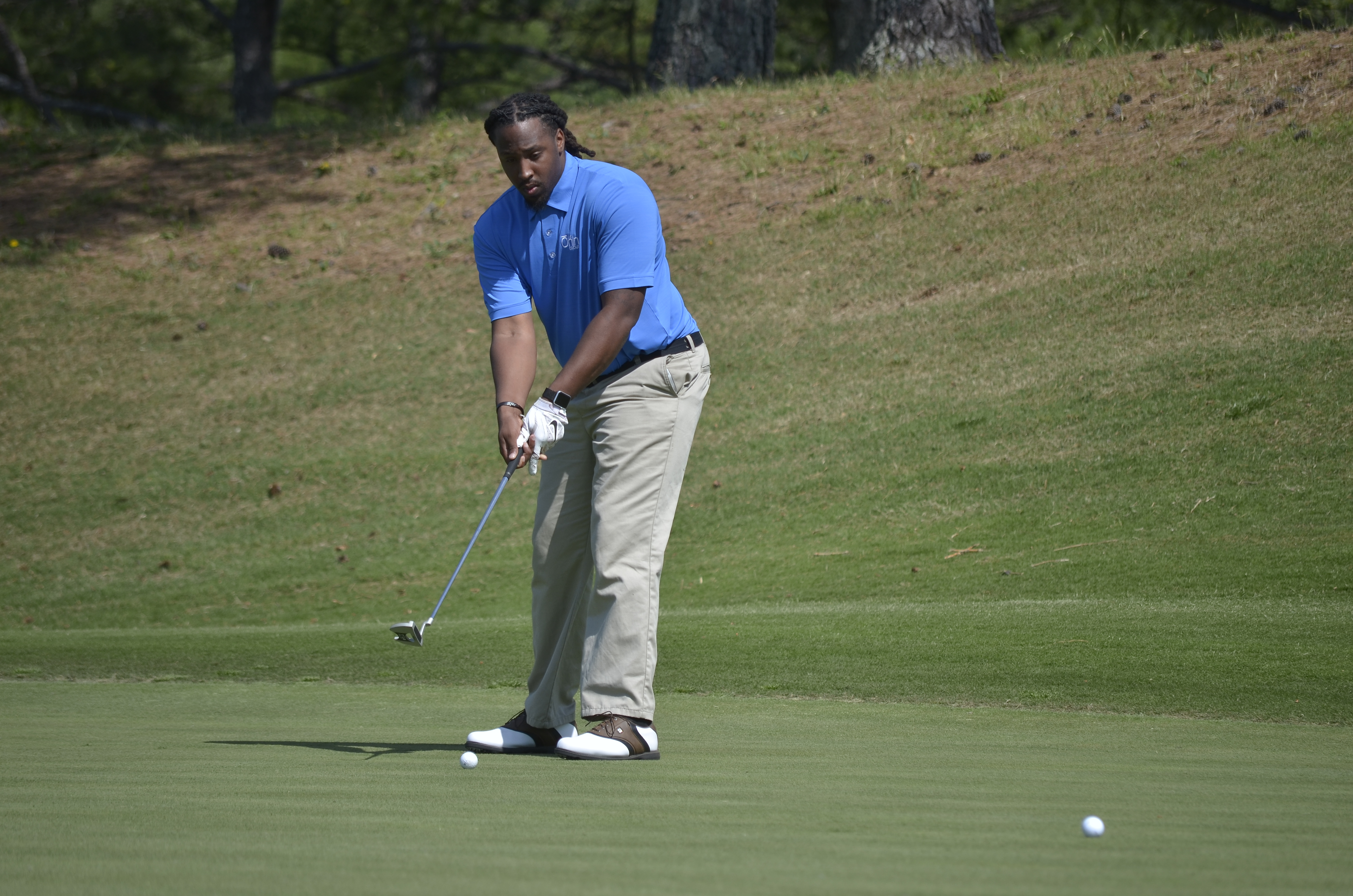 Brandon Nettles played with the Onin team during the Clerestory Inc. third annual golf tournament.